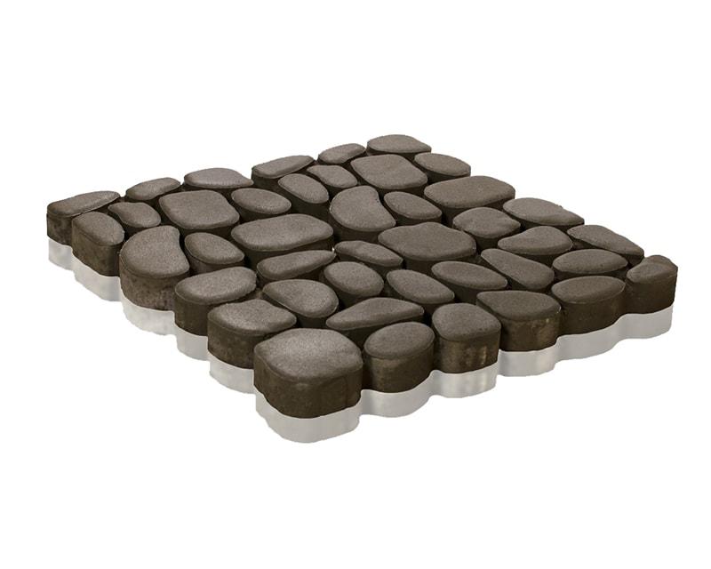 Тротуарная плитка Braer Грин Галет Серый толщина 80